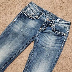 Miss Me Irene Boot Blue Jeans Size 26 x 31 Wear